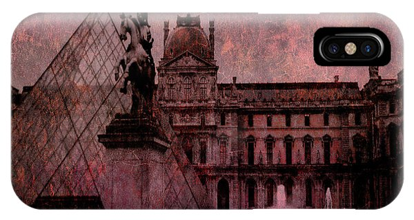 The Louvre iPhone Case - Surreal Paris Louvre Museum Architecture Pyramid by Kathy Fornal