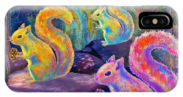 Surreal Squirrels In Square IPhone Case