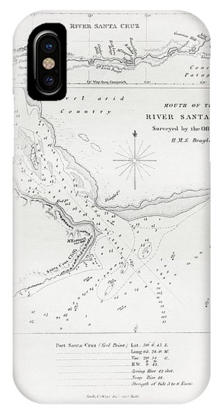 North London iPhone Case - Survey Of The Santa Cruz River by Natural History Museum, London/science Photo Library