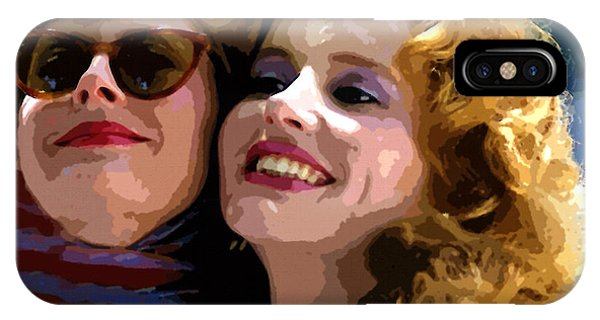 Susan Sarandon And Geena Davies Alias Thelma And Louis - Watercolor IPhone Case