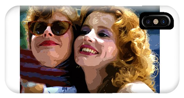 Susan Sarandon And Geena Davies Alias Thelma And Louis - Watercolor IPhone Case