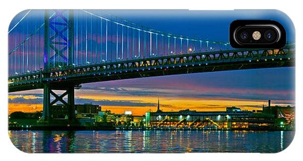 Suspension Bridge Across A River, Ben IPhone Case