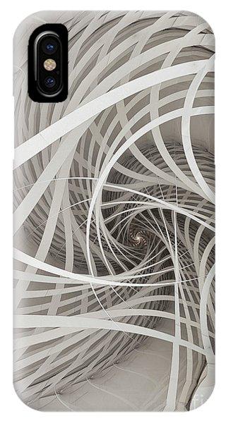 Fractal Geometry iPhone X Case - Suspension Bridge-fractal Art by Karin Kuhlmann
