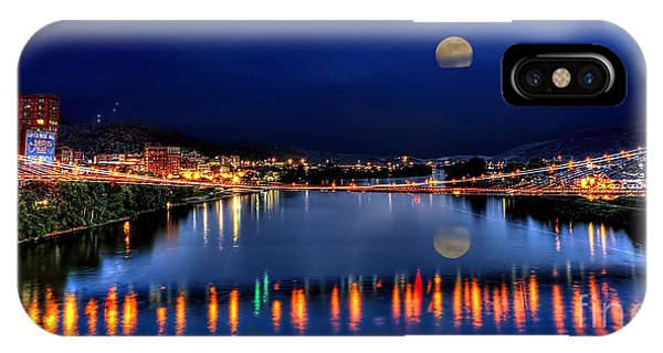 Suspension Bridge Wheeling Wv Panoramic IPhone Case