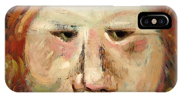 Suspicious Moonface IPhone Case