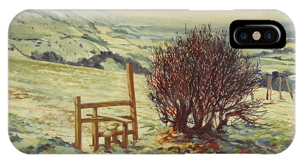 Upland iPhone Case - Sussex Stile, Winter, 1996 by Robert Tyndall