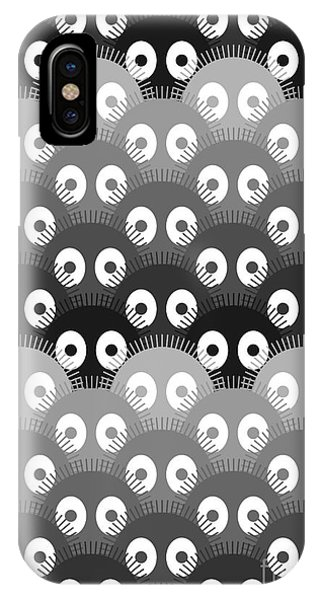 Cute iPhone Case - Susuwatari Pattern Dark by Freshinkstain