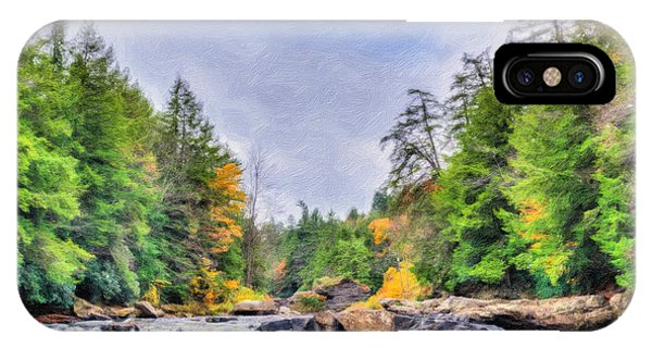 Swallow Falls Oil Painting IPhone Case