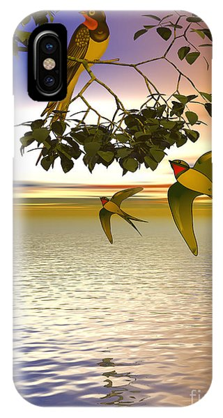 iPhone Case - Swallows At Sunset by Sandra Bauser Digital Art