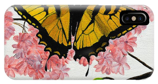 Swallowtail In Cherry Blossoms IPhone Case