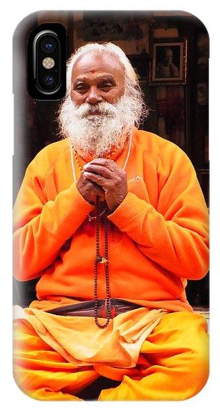 Swami Sundaranand At Tapovan Kutir 4 IPhone Case