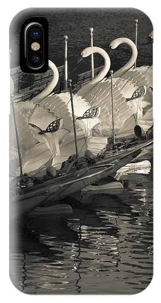 Swan Boats In A River, Boston Public IPhone Case