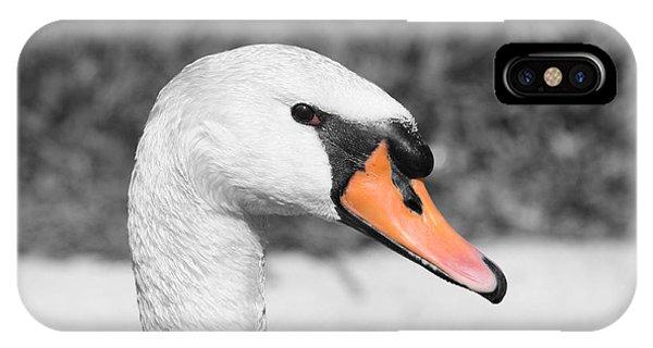 Swan Closeup IPhone Case