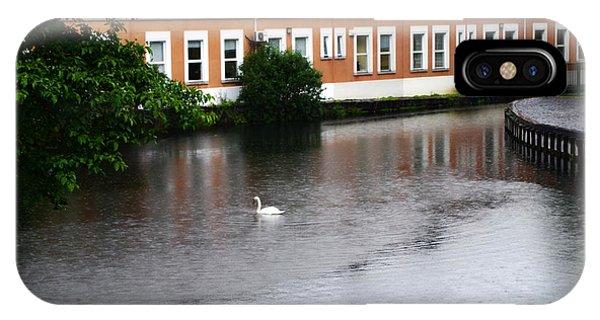 Swan In Dublin IPhone Case