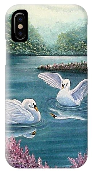 Swan Lake Serenity IPhone Case