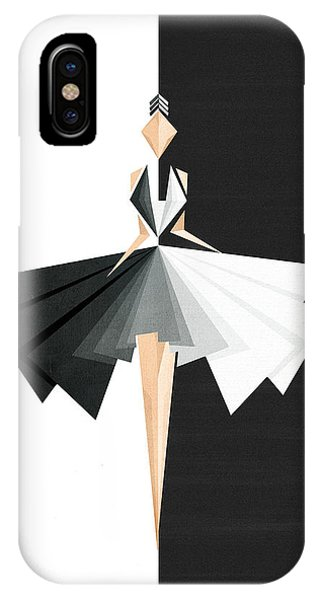 Swan iPhone X Case - Swan Lake by Vess DSign