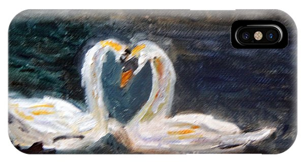 Swan Lovers IPhone Case