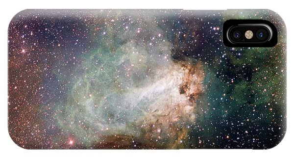 Swan iPhone Case - Swan Nebula (m17) by Inaf-vst/omegacam/european Southern Observatory/science Photo Library