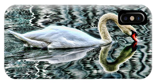 Swan On Lake Eola By Diana Sainz IPhone Case
