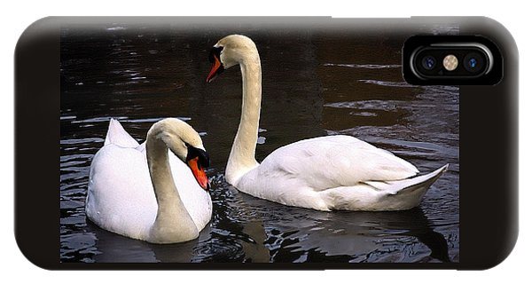 Swan Two IPhone Case