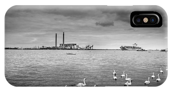 Swans And Ships. Phone Case by Gary Gillette