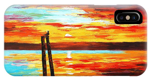 Colourful iPhone Case - Swansea Sunset by Graham Gercken