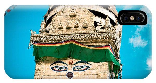Swayambhunath Stupa In Nepal IPhone Case