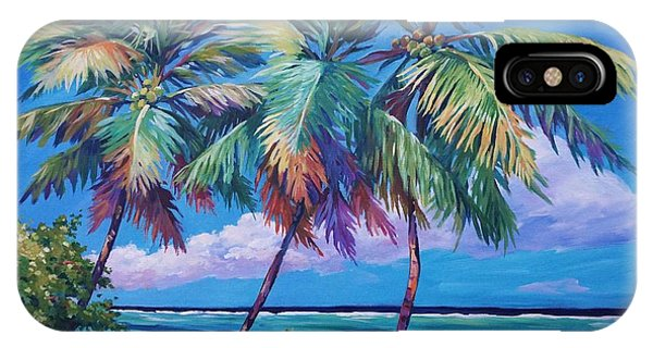 Bahamas iPhone Case - Swaying Palms  by John Clark