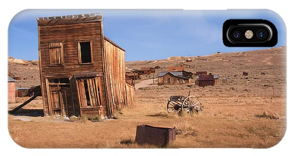 IPhone Case featuring the photograph Swazey Hotel Bodie Ghost Town by Susan Leonard