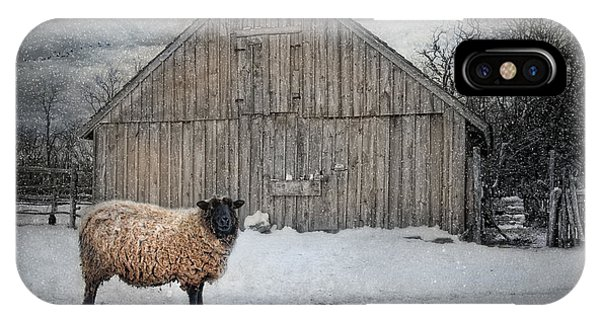 Sheep iPhone X / XS Case - Sweater Weather by Robin-Lee Vieira