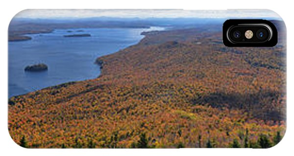 Sweeping Fall Panorama Over Lake Memphremagog IPhone Case