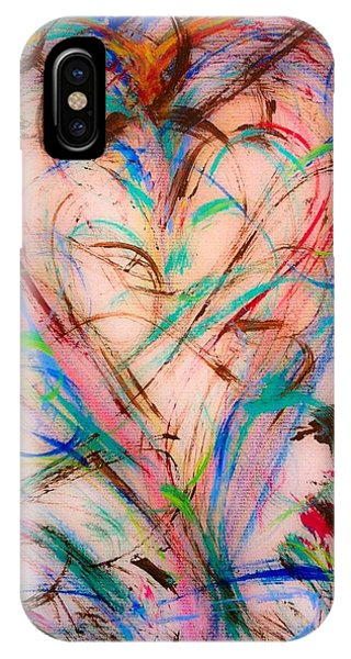 IPhone Case featuring the painting Sweet Love by Marian Palucci-Lonzetta
