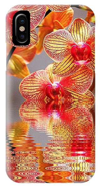 Sweet Orchid Reflection IPhone Case