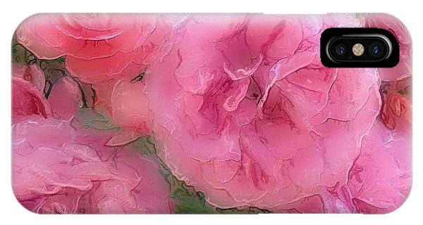Sweet Pink Roses  IPhone Case