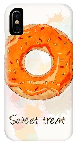Menu iPhone Case - Sweet Treat Orange by Jane Rix