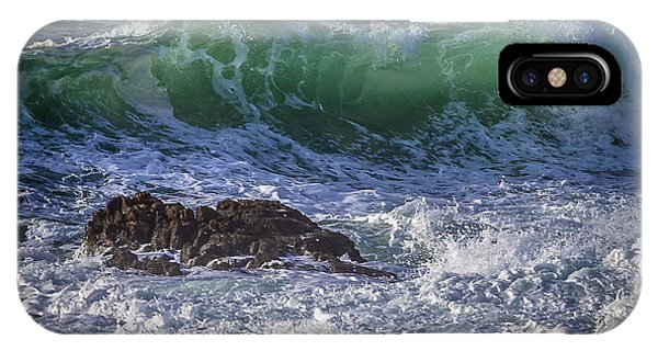 Swells In Doninos Beach Galicia Spain IPhone Case