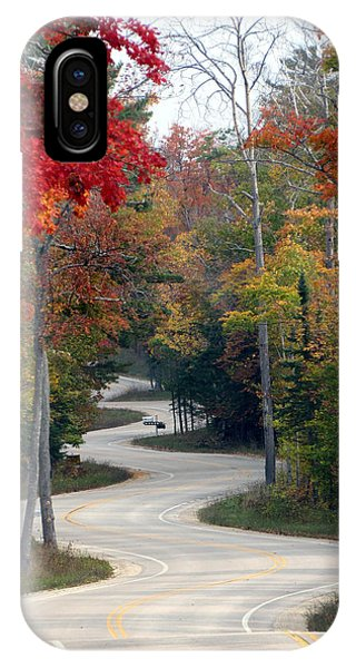 Swervy Road At North Port IPhone Case