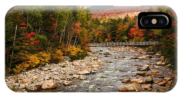 Swift River Painted With Autumns Paint Brush IPhone Case