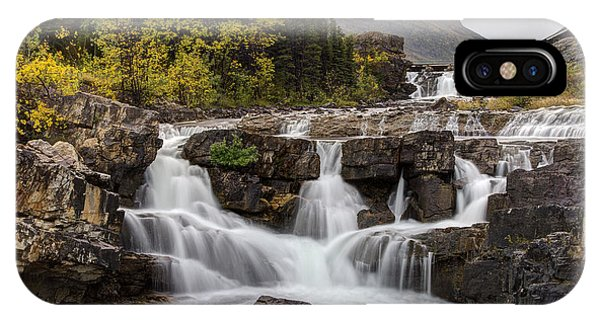 Swiftcurrent Falls In Autumn IPhone Case