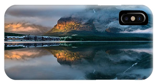 Swiftcurrent Lake Sunrise IPhone Case