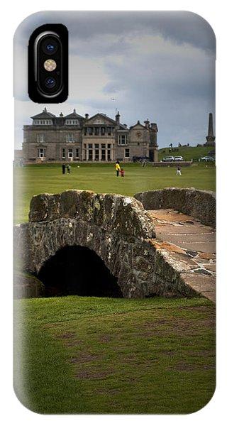 Swilken Bridge Vignette St Andrews Old Course Scotland IPhone Case