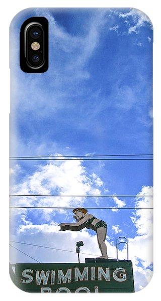 Swim Here IPhone Case