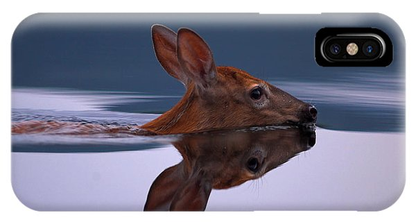Swimming Fawn IPhone Case