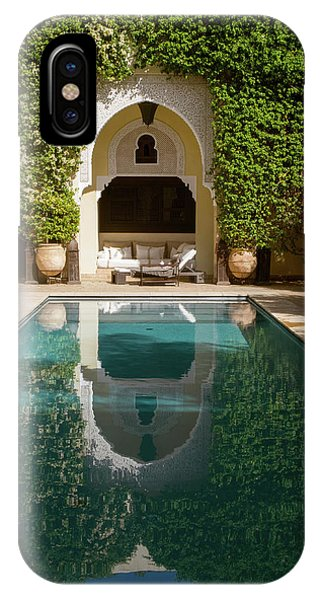 Oranger iPhone Case - Swimming Pool Of Villa Des Orangers by Panoramic Images