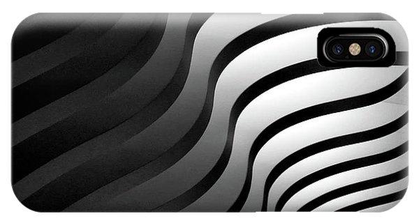 Shadow iPhone Case - Swinging Lines by Hans-wolfgang Hawerkamp