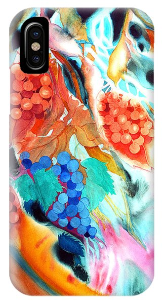 Swirling Grapes IPhone Case
