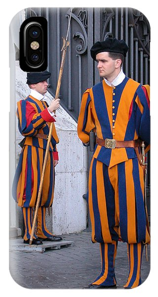 IPhone Case featuring the photograph Swiss Guard by Michael Kirk