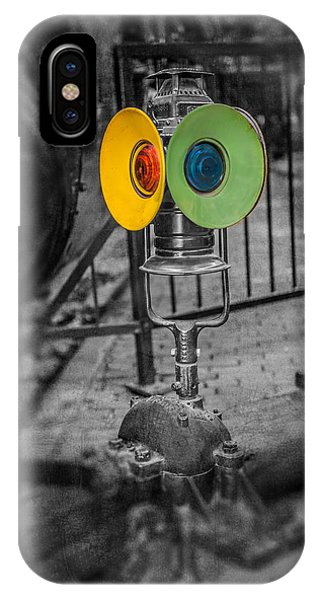 Railroad Signal iPhone Case - Switching Signal by Paul Freidlund