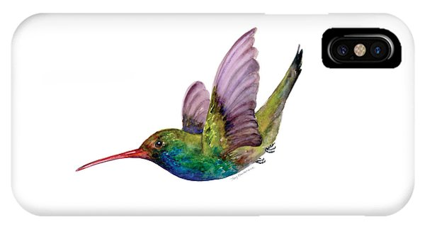 Swooping Broad Billed Hummingbird IPhone Case