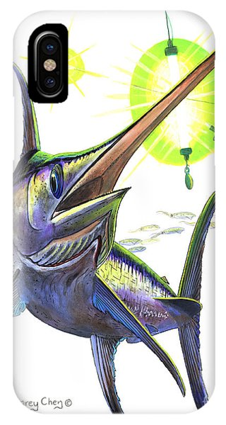 Swordfish iPhone Case - Swordfishing by Carey Chen